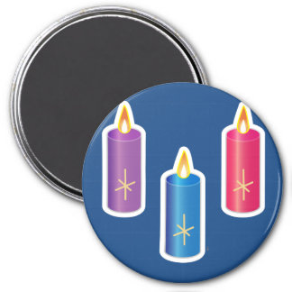 Iconic Candles 7.5 Cm Round Magnet