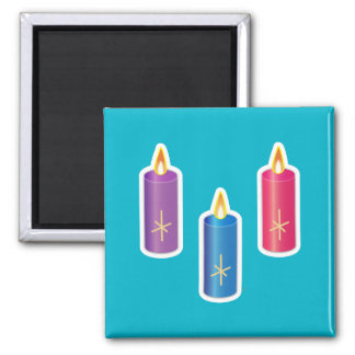 Iconic Candles Refrigerator Magnets