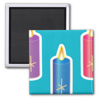Iconic Candles Square Magnet