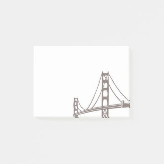 Iconic Golden Gate Bridge Post-it Notes