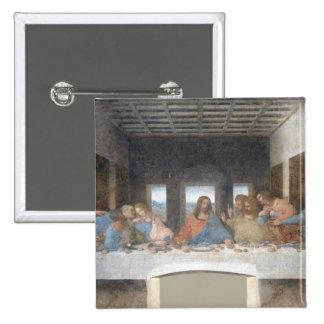 Iconic Leonardo da Vinci The Last Supper 15 Cm Square Badge
