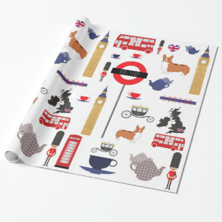 Iconic London Fashionable Wrapping Paper