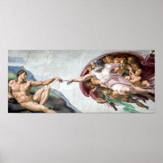 Iconic Michelangelo Creation of Adam Poster