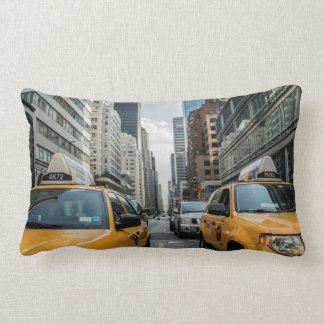Iconic New York City Yellow Taxi Cabs Lumbar Cushion