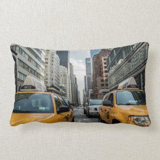 Iconic New York City Yellow Taxi Cabs Lumbar Cushion