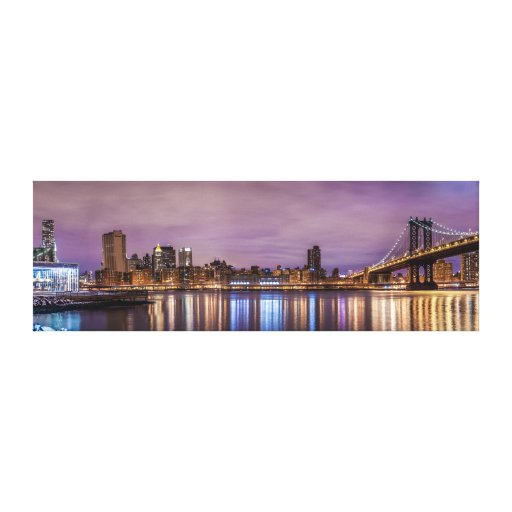 Iconic New York Panoramic Stretched Canvas Print