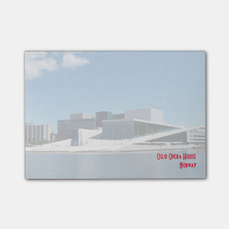 Iconic Oslo Opera House Across The Water Post-it Notes