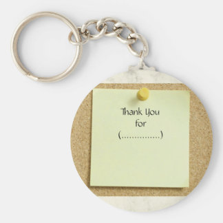 Iconic Post-It Note Thank You Keychain