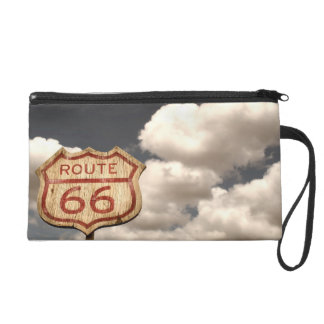 Iconic Route 66 Wristlet Clutch