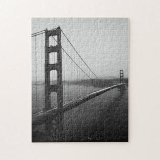 Iconic San Francisco Bridge in B&W Jigsaw Puzzle