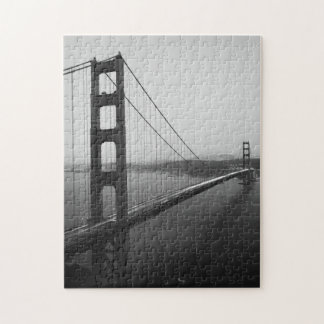 Iconic San Francisco Bridge in B&W Puzzle