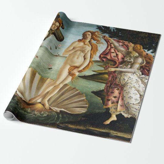 Iconic Sandro Botticelli The Birth of Venus Wrapping Paper