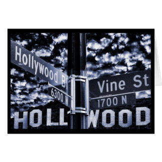 Iconic signs of Hollywood Card