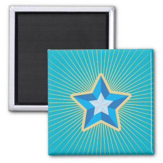 Iconic Star Square Magnet
