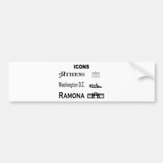 Icons-Athens-DC-Ramona Bumper Sticker