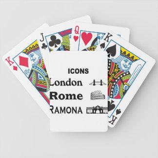 Icons-London-Rome-Ramona Bicycle Playing Cards