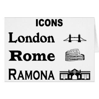 Icons-London-Rome-Ramona Card