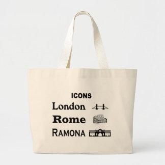 Icons-London-Rome-Ramona Large Tote Bag