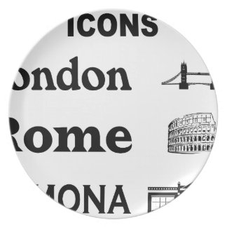 Icons-London-Rome-Ramona Plate