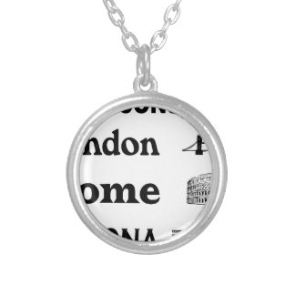 Icons-London-Rome-Ramona Silver Plated Necklace