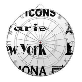 Icons-Paris-NewYork-Ramona Dartboard