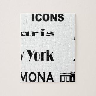 Icons-Paris-NewYork-Ramona Jigsaw Puzzle