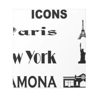 Icons-Paris-NewYork-Ramona Notepad