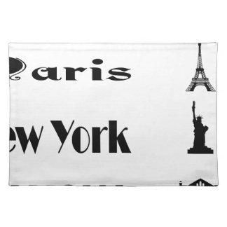 Icons-Paris-NewYork-Ramona Placemat