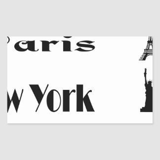 Icons-Paris-NewYork-Ramona Rectangular Sticker