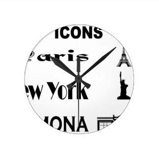 Icons-Paris-NewYork-Ramona Round Clock