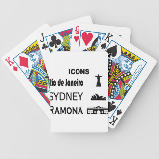 Icons-Rio-Sidney Bicycle Playing Cards