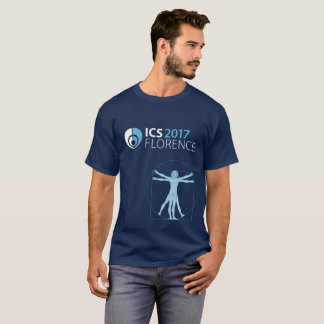ICS 2017 Florence Men's T-Shirt, Navy Blue T-Shirt