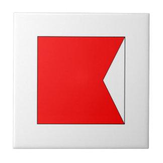 ICS Flag B Small Square Tile