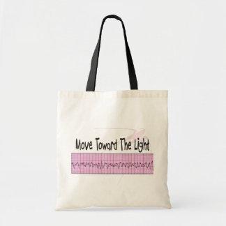 ICU Nurse Gift--Hilarious V-Fib EKG Strip Design Tote Bags