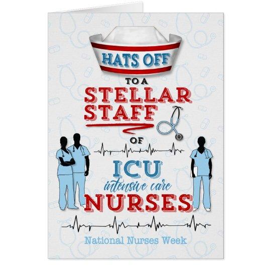 ICU Nurses on National Nurses Week Card