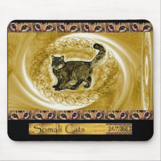 ICU Somali Cat Scribbles Mouse Pad
