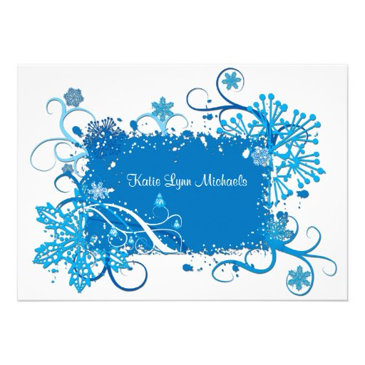 Icy Blue Bridal Shower Invitation