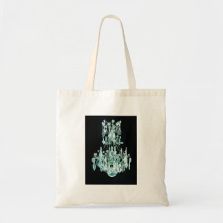 Icy Blue Chandelier Tote Bag