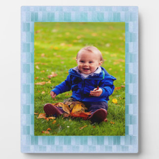 Icy Blue Frame Plaque
