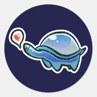 Icy Blue Love Turtle Sticker