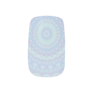 Icy Blue Mandala Minx Nail Art
