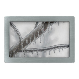 Icy Branch Rectangular Belt Buckle