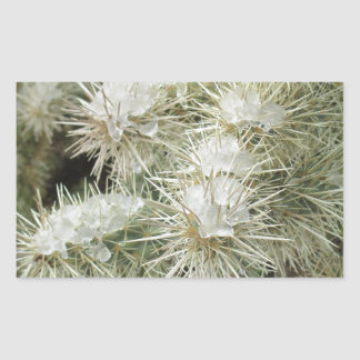 Icy Cactus Rectangle Sticker