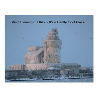 Icy Cleveland Harbor Postcard