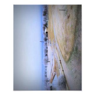 Icy Farm Photo Art