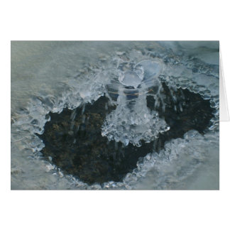 Icy Fountain Blank Note Card