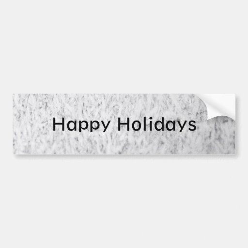 Icy Happy Holidays Bumper Stickers