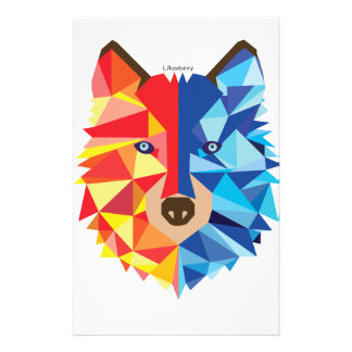 Icy Hot Wolf Stationery