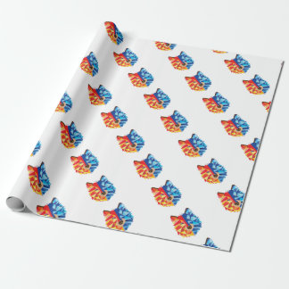 Icy Hot Wolf Wrapping Paper