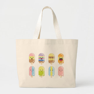 Icy lolly large tote bag